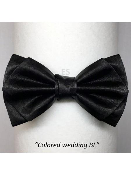 Галстук-бабочка ЧЁРНАЯ свадебная