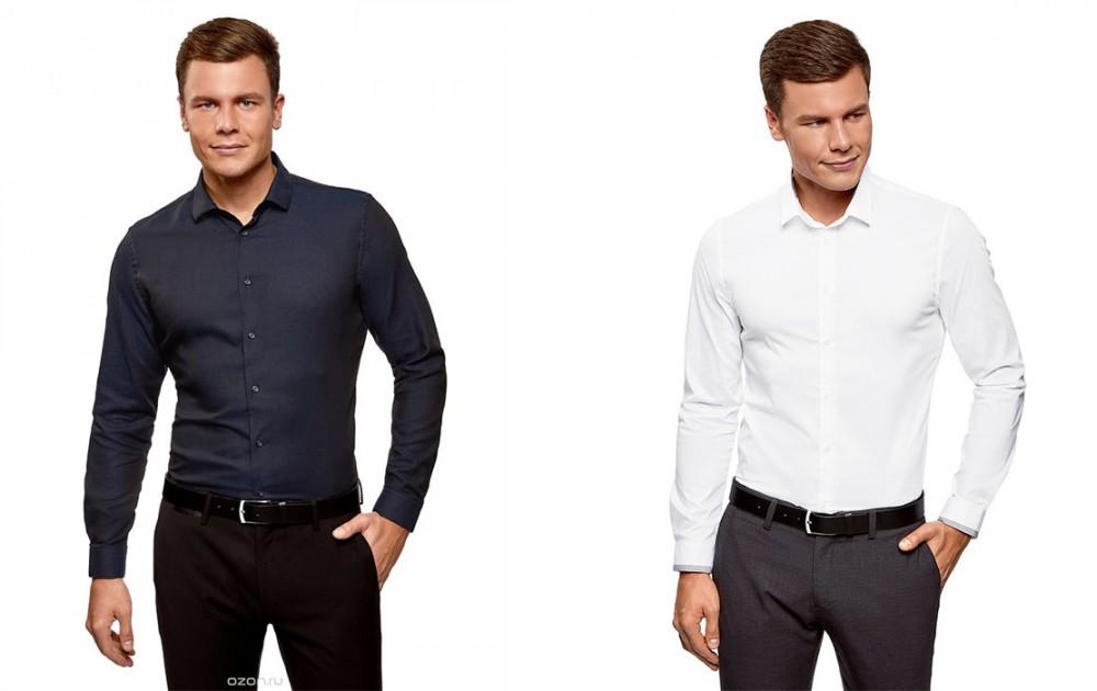 Мужские приталенные рубашки