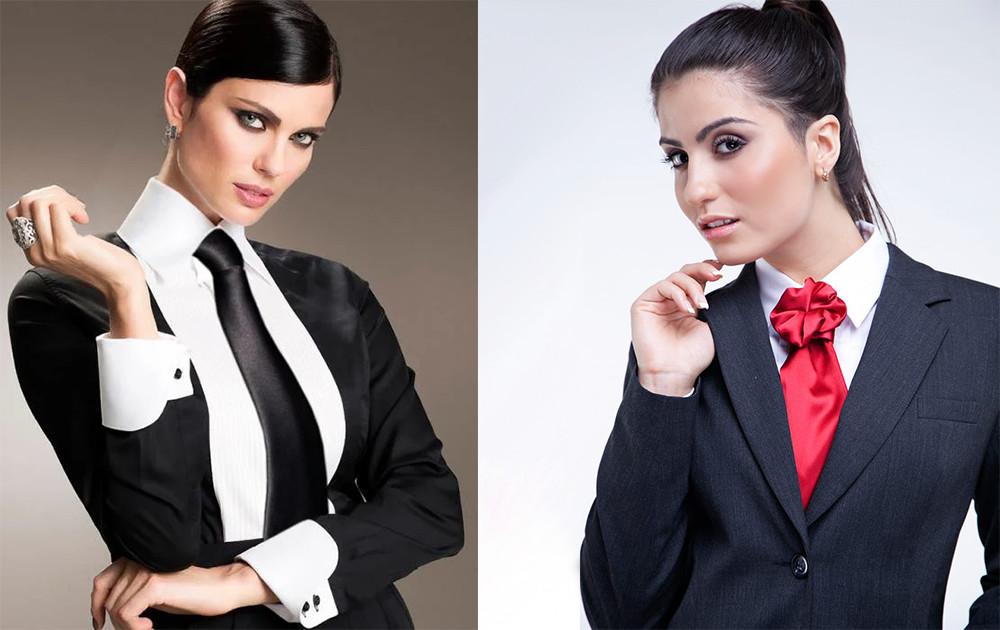 Как носить женский галстук