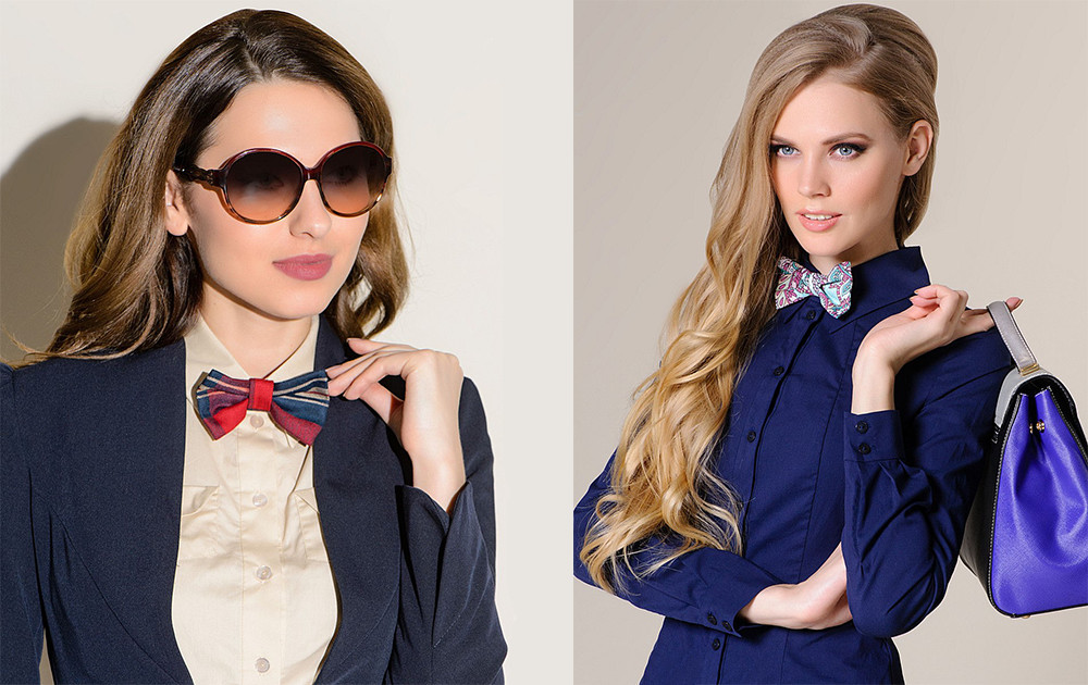 Женские галстуки - особенности, отличия от мужских