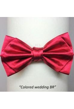 Галстук-бабочка БОРДОВАЯ свадебная
