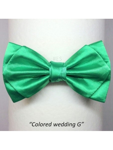 Галстук-бабочка ЗЕЛЁНАЯ свадебная