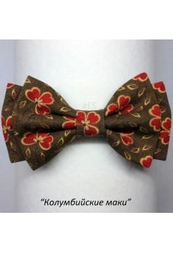Галстук-бабочка КОЛУМБИЙСКИЕ МАКИ