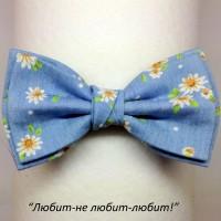 Галстук-бабочка ЛЮБИТ-НЕ ЛЮБИТ-ЛЮБИТ